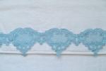 Mavi Deniz Dalgası Dantelli 2'li Havlu