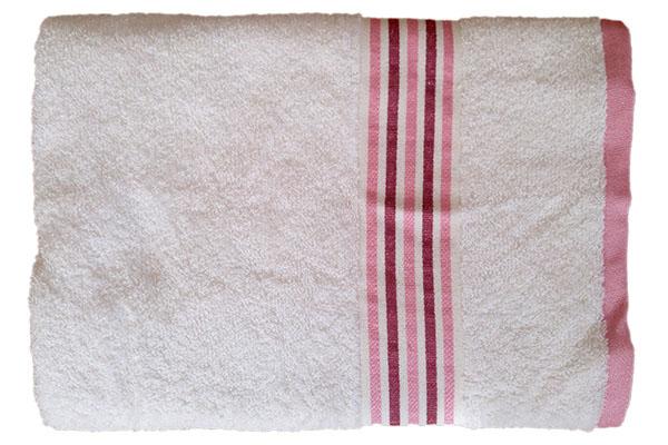 Gökkuşağı Düz Çizgili 70x140 Krem Banyo Havlusu
