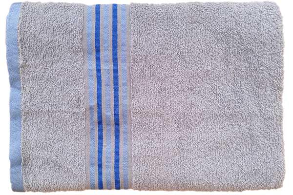 Gökkuşağı Düz Çizgili 70x140 Gri Banyo Havlusu