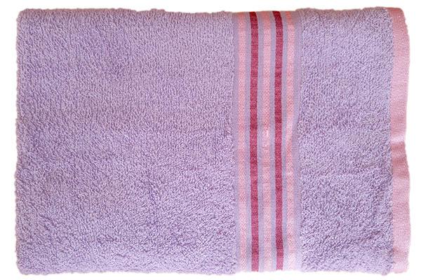 Gökkuşağı Düz Çizgili 70x140 Lila Banyo Havlusu