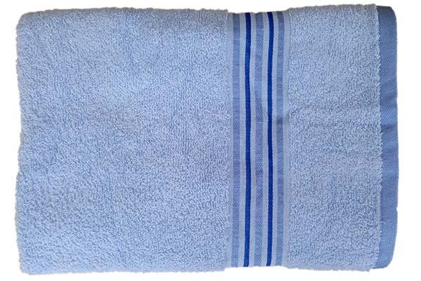 Gökkuşağı Düz Çizgili 70x140 Mavi Banyo Havlusu