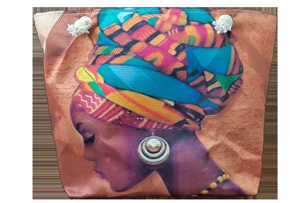 Afrikalı Küpeli Kadın Çanta