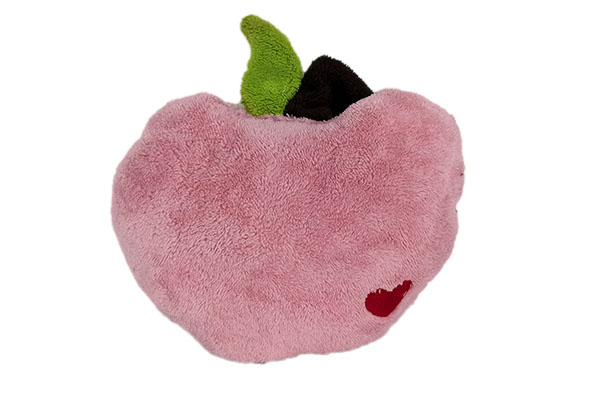 Elma Kırlent Pembe Peluş
