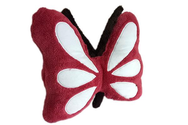 Kelebek Kırmızı Peluş Kırlent