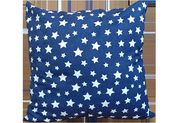 Dekoratif Yastık Yıldız Desenli Lacivert Kırlent