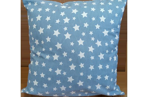 Dekoratif Yastık Yıldız Desenli Mavi Kırlent