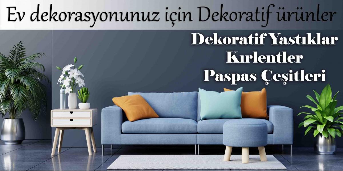 dekoratif ürünler, kırlent, paspas, dekoratif yastık