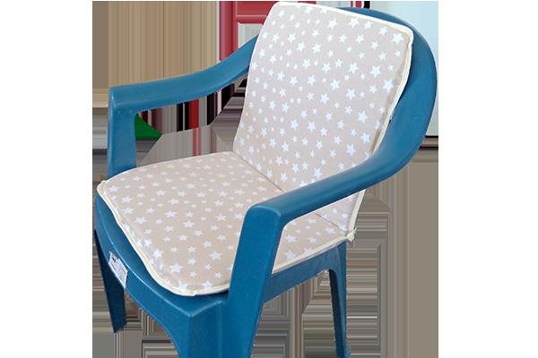 Sandalye Minderi Yıldız Bej