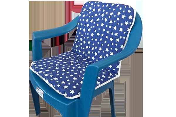 Sandalye Minderi Yıldız Lacivert