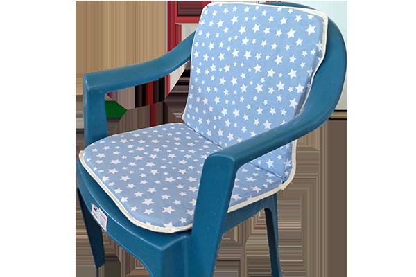 Sandalye Minderi Yıldız Mavi