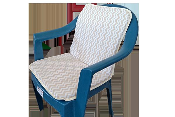 Sandalye Minderi Zigzag Bej