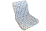 Sandalye Minderi Zigzag Mavi